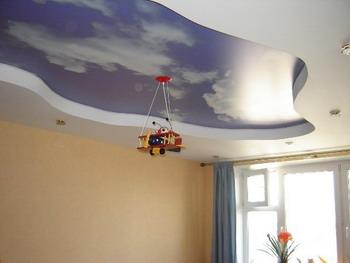 Двухуровневые натяжные потолки в Екатеринбурге